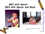mdi with spacer mdi with spacer and mask