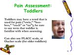 pain assessment toddlers