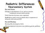 pediatric differences neurosensory system1