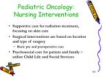 pediatric oncology nursing interventions1