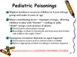 pediatric poisonings