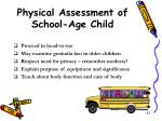 physical assessment of school age child