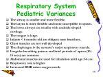 respiratory system pediatric variances