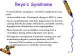 reye s syndrome