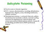 salicylate poisoning