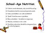 school age nutrition