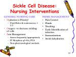 sickle cell disease nursing interventions