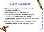 talipes clubfoot