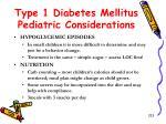 type 1 diabetes mellitus pediatric considerations1