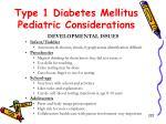 type 1 diabetes mellitus pediatric considerations3