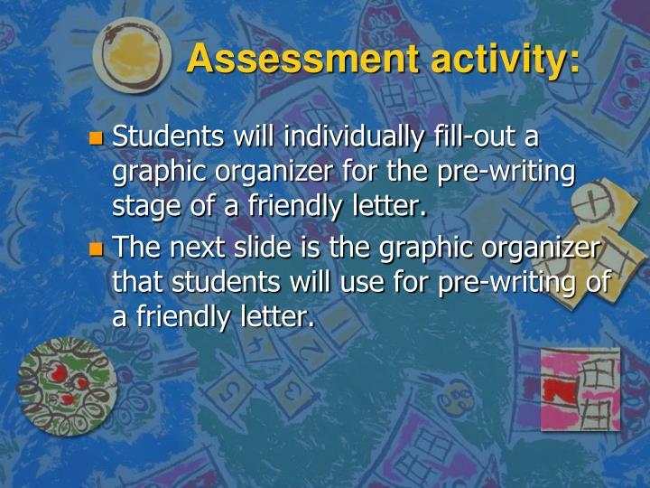 Assessment activity:
