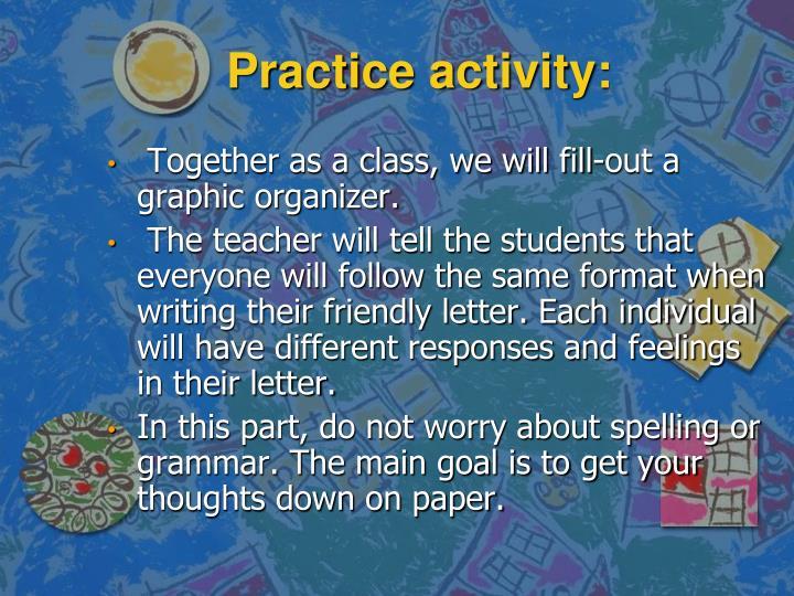 Practice activity: