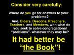 consider very carefully