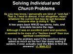 solving individual and church problems1