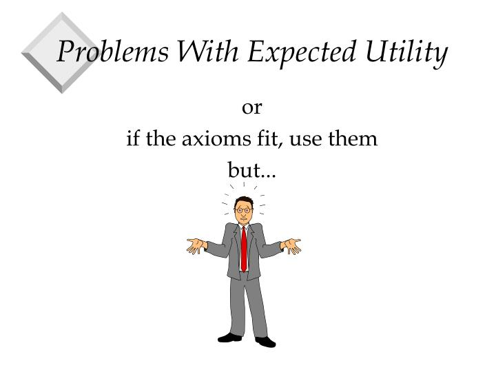 problems with expected utility n.