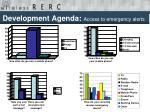 development agenda access to emergency alerts