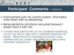 participant comments positive