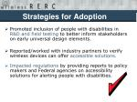 strategies for adoption