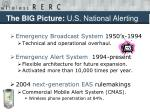 the big picture u s national alerting