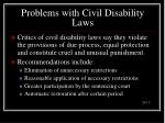 problems with civil disability laws