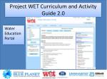project wet curriculum and activity guide 2 07