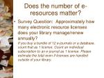 does the number of e resources matter