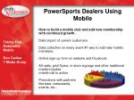 powersports dealers using mobile2