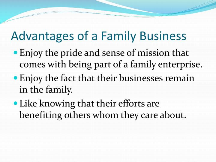 Advantages of a Family Business
