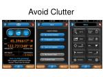 avoid clutter
