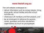 www theloft org au