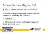 a few facts higher ed