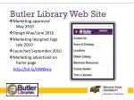 butler library web site