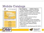 mobile catalogs