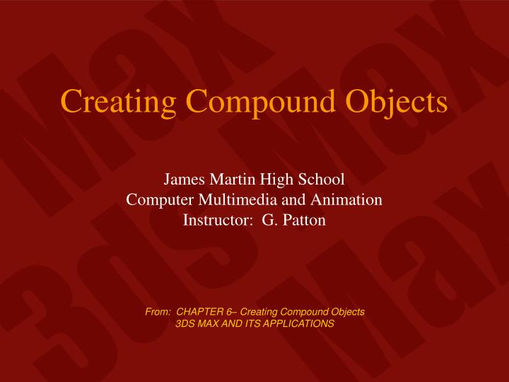 creating compound objects n.
