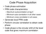 code phase acquisition