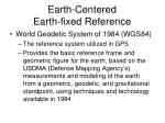 earth centered earth fixed reference1