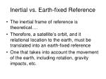 inertial vs earth fixed reference