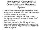 international conventional celestial space reference system