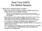 real time dgps the waas network
