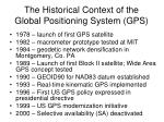 the historical context of the global positioning system gps1