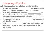 evaluating a franchise