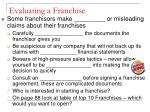evaluating a franchise2
