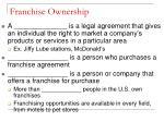 franchise ownership