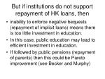 but if institutions do not support repayment of hk loans then