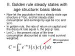ii golden rule steady states with age structure basic ideas