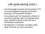 life cycle saving cont