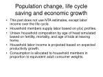 population change life cycle saving and economic growth