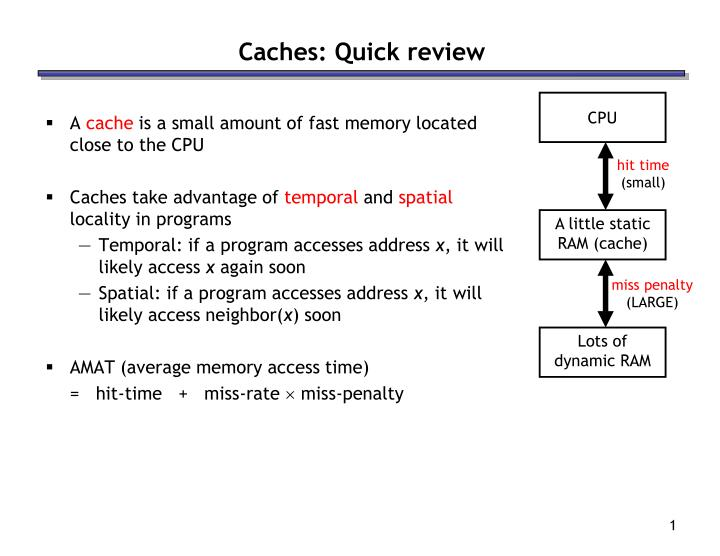 caches quick review n.