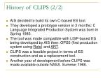 history of clips 2 2