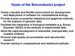 goals of the bioconductor project